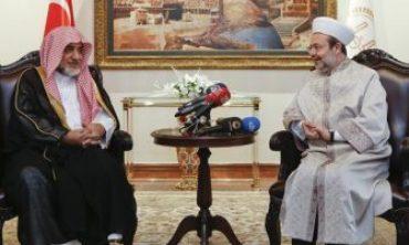 Suudi Bakan Abdülaziz'den Diyanet İşleri Başkanı Görmez'e ziyaret…