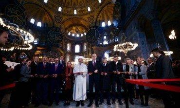 Aşk-ı Nebî, Ayasofya'da açıldı!