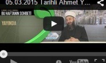 Cübbeli Ahmet Hoca Lalegül TV Ahmet Yesevi Derneği Sohbeti