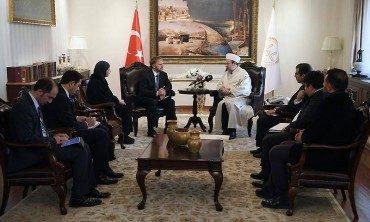 Diyanet İşleri Başkanı Görmez, Bosna Hersek Ankara Büyükelçisi Sadoviç'i kabul etti