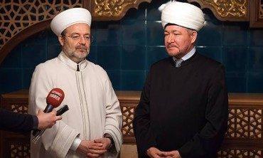 Diyanet İşleri Başkanı Görmez, Moskova'da Ravil Gaynutdin ile bir araya geldi