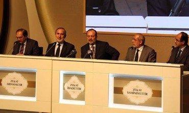 Diyanet İşleri Başkanı Görmez, Gaziantep'te 'Zekat' konulu panele katıldı