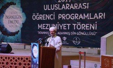 Diyanet İşleri Başkanı Görmez, Konya'da Uluslararası İlahiyat ve Uluslararası İmam Hatip Lisesi mezuniyet törenine katıldı